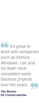It's great to work with companies such as Astbury Windows. Lee and his team have completed some fabulous projects over the years...